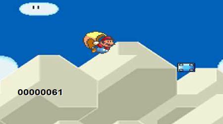 Screenshot - Super Mario World Cape Glide